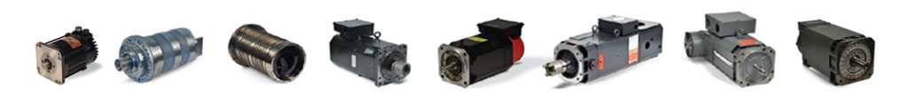 replacement spindle motors and servomotors available from stock